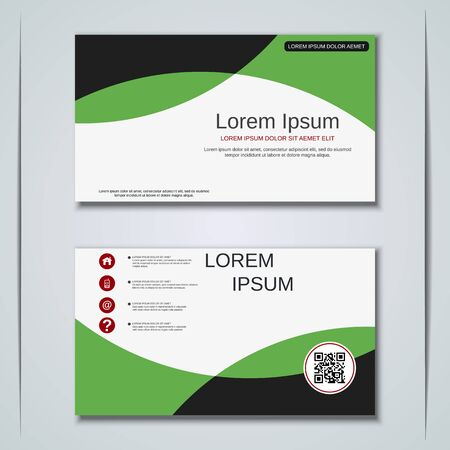 Modern business visiting card vector design template Banque d'images - 129791015