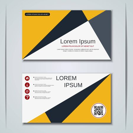 Modern business visiting card vector design template Banque d'images - 129791020