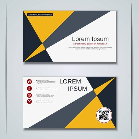 Modern business visiting card vector design template Banque d'images - 129791022
