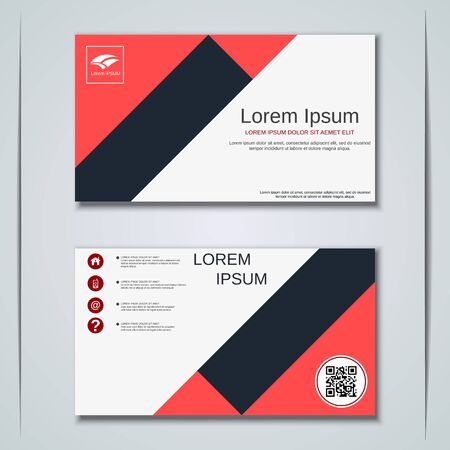 Modern business visiting card vector design template Banque d'images - 129790994