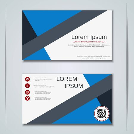 Modern business visiting card vector design template Banque d'images - 129790995