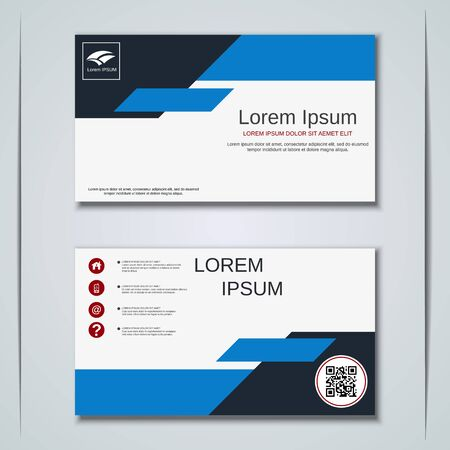 Modern business visiting card vector design template Banque d'images - 129790997