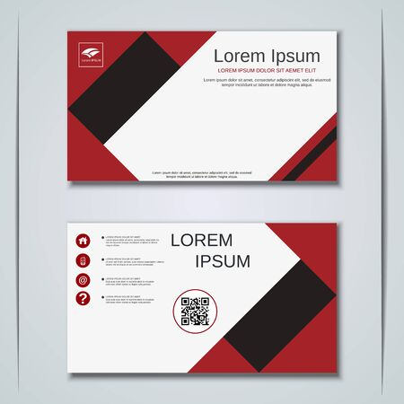 Modern business visiting card vector design template Banque d'images - 129790996
