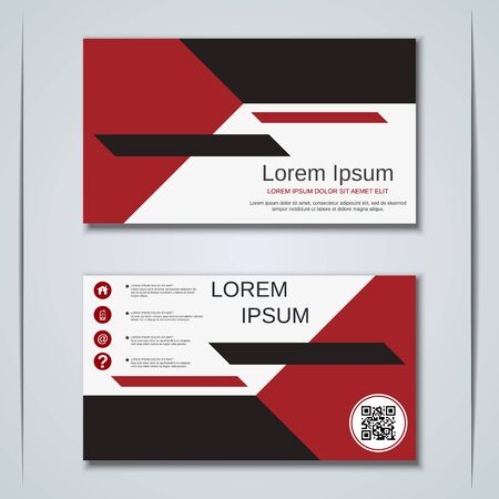 Modern business visiting card vector design template Banque d'images - 129791000