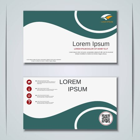 Modern business visiting card vector design template Banque d'images - 129790947