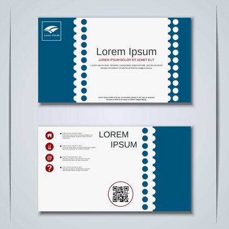 Modern business visiting card vector design template Banque d'images - 129790924