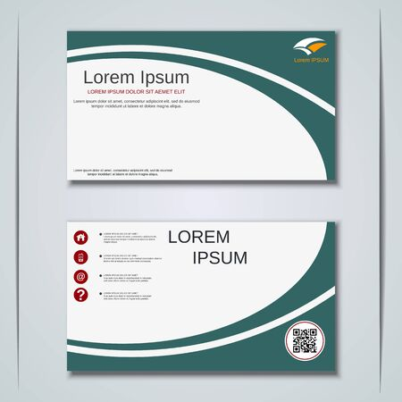 Modern business visiting card vector design template Banque d'images - 129790925