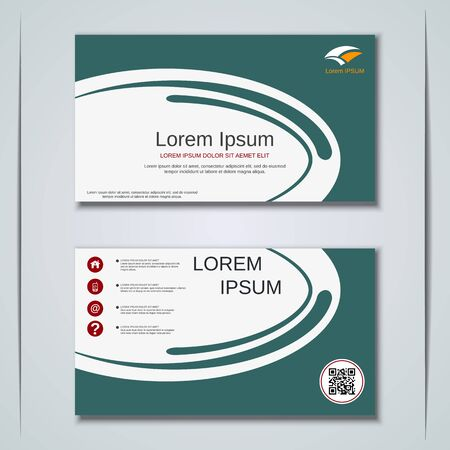 Modern business visiting card vector design template Banque d'images - 129790934