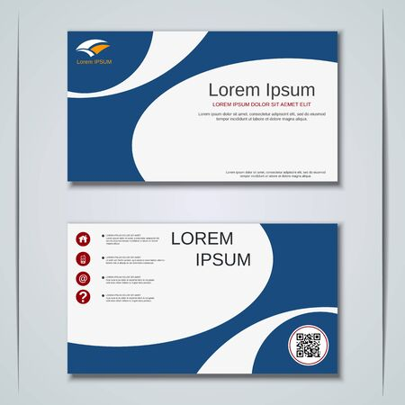 Modern business visiting card vector design template Banque d'images - 129790905