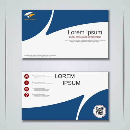 Modern business visiting card vector design template Banque d'images - 129790907