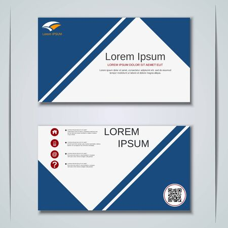 Modern business visiting card vector design template Banque d'images - 129790909