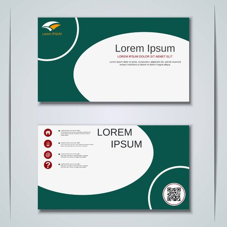 Modern business visiting card vector design template Banque d'images - 129790914