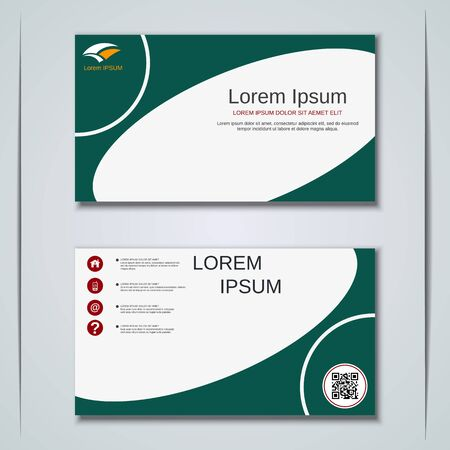 Modern business visiting card vector design template Banque d'images - 129790910