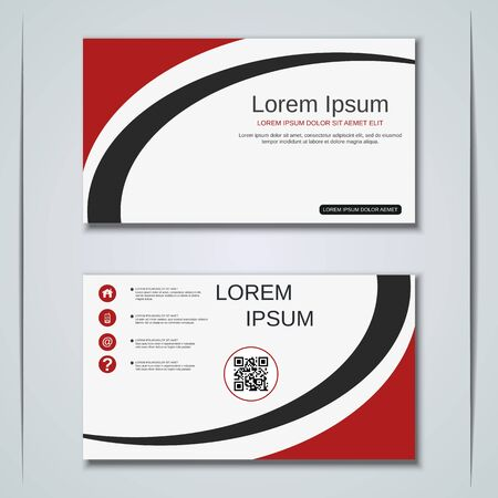 Modern business visiting card vector design template Banque d'images - 129790911