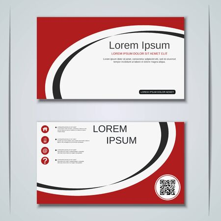 Modern business visiting card vector design template Banque d'images - 129790915
