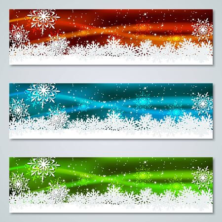 Christmas and New Year colorful luxury vector banners templates collection 向量圖像