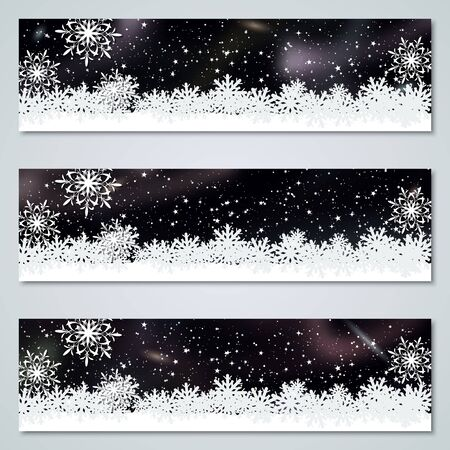 Christmas and New Year luxury vector banners templates collection