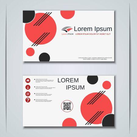 Modern business visiting card vector design template