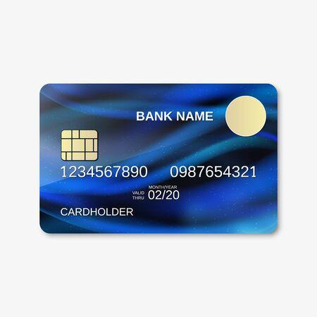 Bank card design vector template. Abstract style background Ilustración de vector