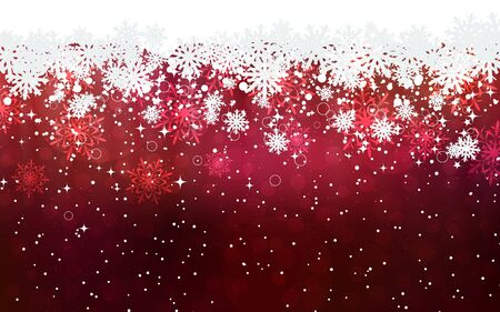 Christmas and New Year elegant blurred vector background with stars and snowflakes