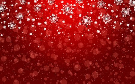Christmas and New Year elegant blurred vector background with stars, snowflakes and bokeh effect