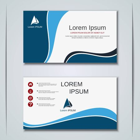 Modern geometric style business visiting card, label, sticker, badge vector design template