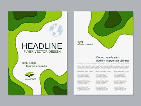 Flyer recto-verso d'entreprise géométrique moderne, brochure, modèle de conception de vecteur de couverture de brochure. Format A4