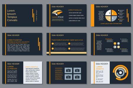 Professional business presentation, slide show, infographic elements, annual report, brochure design