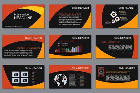 Professional business presentation, slide show, infographic elements, annual report, brochure vector design