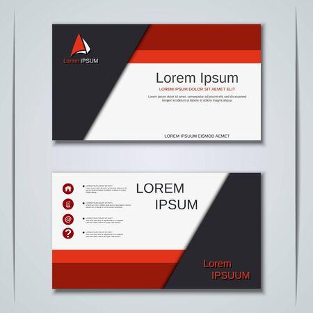 Moderne abstrakte geometrische Geschäftsvisitenkarte, Aufkleber, Aufkleber, Abzeichenvektor-Designschablone