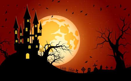 Halloween scary night vector background Ilustracje wektorowe