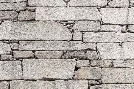 jointless: detail outdoor stone wall, jointless Stock Photo