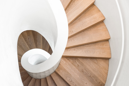 spiral staircase: spiral staircase inside the building luxury