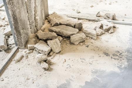 bulkhead: Demolition work - Reconstruction Stock Photo
