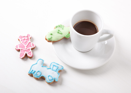 cafe bombon: dulce sorpresa para el café - de pan de jengibre