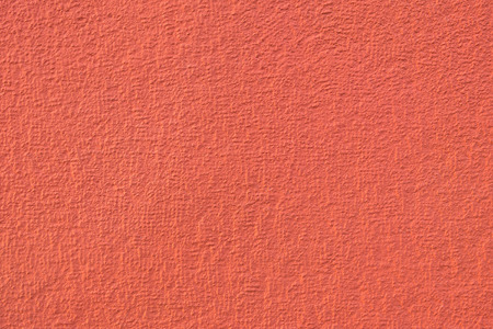 Red moderately rough exterior plaster, natural brick color, classic modern structure