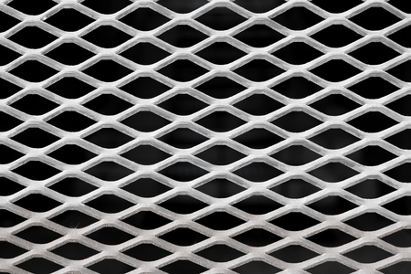 Perforated sheet metal, stainless steel grate, stainless steel grill, steel grating, iron background, detail grids 版權商用圖片