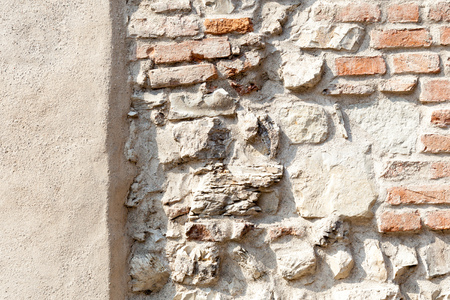 Architectural detail, Symbol reconstruction, Renovation plaster, Masonry pattern, Intervention preservationists, Cement stucco, Stone wall, Brick wall, Combined masonry, Structure cement plaster 版權商用圖片
