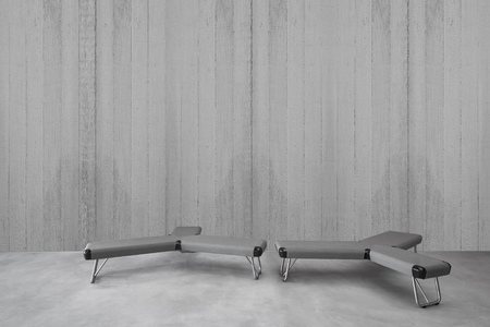 Modern minimalist interior furniture, Modern concrete wall for image with minimalist seat, Concrete wall with sitting