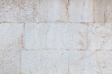 Limestone white wall background, Old stone limestone texture, Texture stone cladding