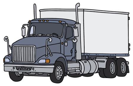 big truck: Big truck, vector, hand drawing