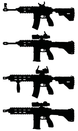 tommy: Automatic guns, hand drawn vector illustration