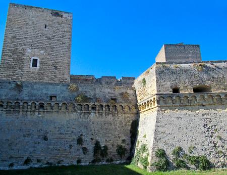 The Norman Castle in Bari, Italy. Italian name - Castello Normanno-Svevo. From the street area. Éditoriale