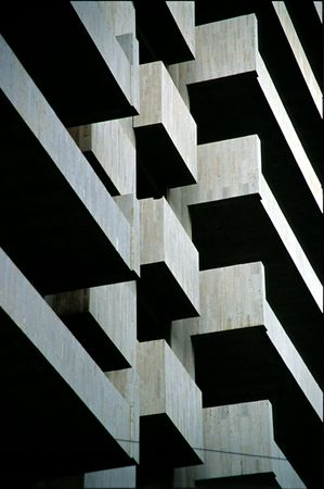 beirut: abstract architecture detail of an under construction building in beirut