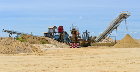 aggregates: Sand mining