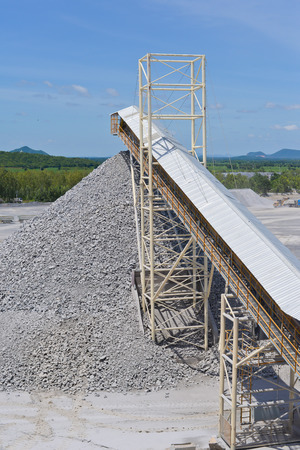 aggregates: Crushing plant and limestone mine