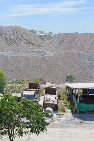 stockpile: Limestone stockpile
