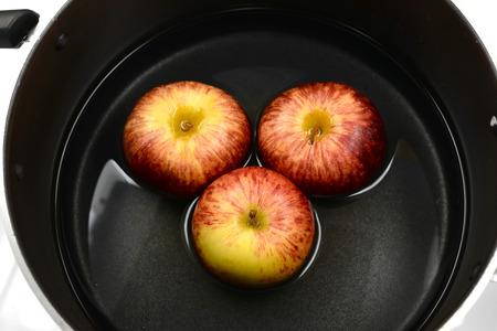 gala: Gala Apple in pot Stock Photo