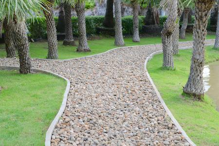gravel: The pebble walkway