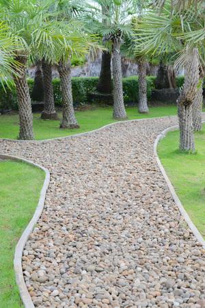 The pebble walkway
